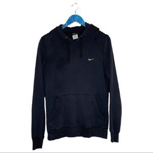 Nike Classic Black Fleece Logo Swoosh Hoodie